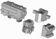 Turret & Dovetail or Square Tool Bit Holders with Axial and Radial Adjustment