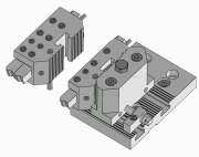 Side Mounted Square Bit Toolholder with Micrometric Axial Adjustment