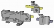 Turret and Modular Part-Off Tool Holder for Empire Blade or Square Tool Bit - TS Type