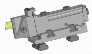 Turret and Modular Part-Off Tool Holder, TS Type, for Empire Blade