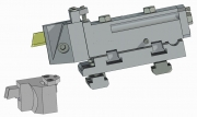 Turret and Modular Part-Off Tool Holder, TS Type, for Empire Blade or Square Tool Bit - 3rd Position (4th, 8th)