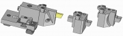 Turret and Modular Part-Off Tool Holder for Empire Blade or Square Tool Bit - 6th Position